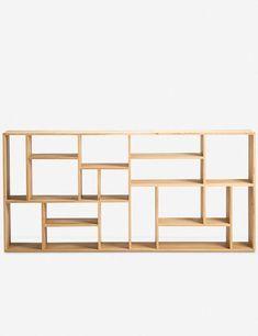 Ethnicraft Teak M Rack Geometric Bookcase Modular Bookshelves, Bookcase Wall, Etagere Bookcase, Bookcases, Velvet Furniture, Hooker Furniture, Office Furniture, Painted Furniture, Mondrian