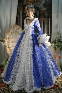 """FASHION DOLLS BY HISODOLL: """"Evening Dress #84""""Diana Franklin Mint doll by HISODOLL"""