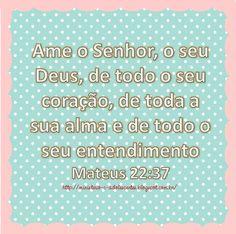 Ministério Adolescentes: Versículo da Semana: Mateus 22:37