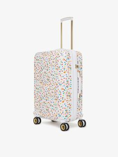 Oh Joy! + CALPAK Collection Fun patterned interior TSA Accepted Lock Expandable - Up to 2 Inches Includes colorful Dust Cover [-] If you're looking to stand out at baggage claim, you're in luck! CALPAK and designer Joy Cho, known for her popular lifestyle blog Oh Joy!, partnered to create the ultimate travel party collection. The Oh Joy! + CALPAK Luggage Collection was inspired by adventure, both every day and far away. With luggage being an essential part of those adventures, this… Calpak Luggage, Luggage Sets, Suitcase Set, Spinner Suitcase, Packing Cubes, Travel Party, Mask Shop, Cool Patterns, On Set