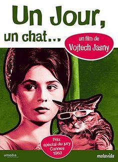 "Vintage French poster for Czech film ""Az prijde kocour"" (1963)"
