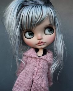 Doll Head, Doll Face, Pretty Dolls, Beautiful Dolls, Ooak Dolls, Blythe Dolls, Cute Baby Dolls, Little Doll, Doll Repaint