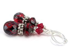 Red Picasso Dangle Earrings by AllTwisted.      Use code PIN10 for 10% off your purchase!
