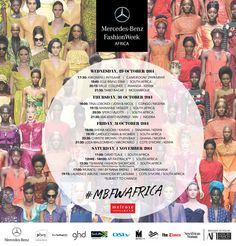 Mercedes-Benz Fashion Week in South Africa | Schedule