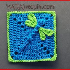 [Video Tutorial] This 3D Dazzling Dragonfly Granny Square Is Simply Adorable! - http://www.dailycrochet.com/video-tutorial-this-3d-dazzling-dragonfly-granny-square-is-simply-adorable/