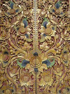 Temple door, Bali