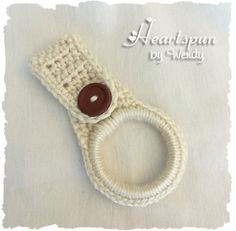 CROCHET PATTERN to make a Kitchen or Bath Towel Ring for hand