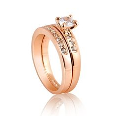 BESTSELLER! Nickel Free Rose Gold Plated 3mm Band 5mm Cubic Zirconia Engagement Ring Size 5, 6, 7, 8, 9 R25 $0.99