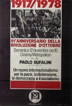 61° Anniversario della Rivoluzione d'ottobre  Progetto grafico di Daniele Turchi.