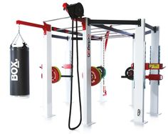 Octagon Frame ~ The ultimate in functional training frames, the Octagon features all the necessary attachments to perform a full cross training workout and allows up to 18 people to train simultaneously. The eight-sided design also allows trainers to configure a 360o training experience for your members. #fitness @escapefitness