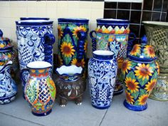 Talavera pottery plays an important role in Mexican decor because of the unique styles, colors and designs of each creation. Description from crochethomedecor.com. I searched for this on bing.com/images