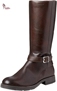 Geox D Audalies High A, Bottes Femme, Marron (Brown), 39.5 EU