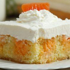 Orange Creamsicle Poke Cake - Shared.com