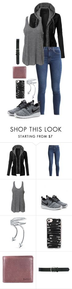 """Tara68"" by dottieonthemoon ❤ liked on Polyvore featuring LE3NO, Simplex Apparel, NIKE, Bling Jewelry, Casetify, Barbour and M&Co"