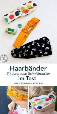 Haarbänder Haarband - 3 kostenlose Schnittmuster im Test