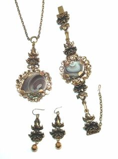 Pentti Sarpaneva Finland - Vintage Bronze Set - Necklace , Bracelet and Earrings #PenttiSarpaneva #Pendant