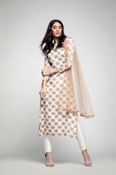 Ivory Weaved Dress
