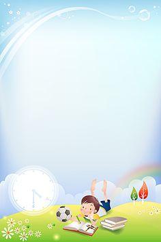 Cartoon alarm clock blue background kids Poster Background Design, Powerpoint Background Design, Kids Background, Flower Background Wallpaper, Cartoon Background, Boarder Designs, Page Borders Design, School Border, Teacher Cartoon