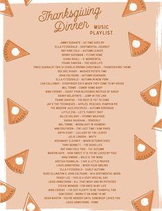 Printable Thanksgiving Dinner Playlist - Let's Mingle Blog