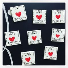 Thumbprint Mother's Day magnets ✔️and I ❤️them! #mothersday