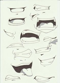 How To Draw Anime Lips Mouths I By Saber Xiii Manga Traditional Media Drawings 2012