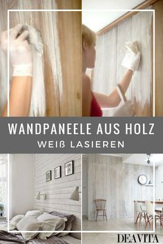 Wandpaneele Aus Holz Können Sie Mit Weißer Tünche überstreichen Ohne Großen  Aufwand. Das Weißen Hat