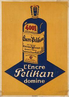 Vintage Pelikan ink advertisement