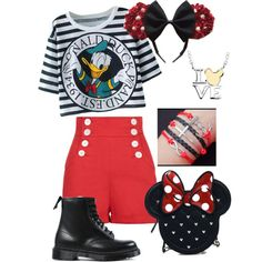 Disney inspired outfit by lmtomsick on Polyvore featuring polyvore, fashion, style, Dr. Martens, Loungefly and Disney