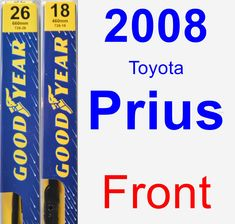 Front Wiper Blade Pack for 2008 Toyota Prius - Premium