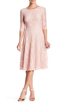 Lace Fit & Flare Dress by Sangria on @HauteLook