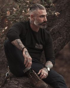 """Trouble Maker"" I love making trouble, but only in a good way! Get out trouble maker thermal today and take advantage of our 20%holiday deal PROMOCODE dapperholiday #tshirt #thermal #madeinusa #fashion #mensfashion #menstyle #silverfox #beard #tattoo..."