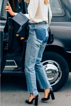 Denim and oversized shirts | Style | Blue Denim | White shirts | Gucci | Harper…
