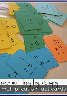 These mini multiplication flash cards are so great for mastering multiplication tables! Get your FREE printable flash cards and help your kids master their multiplication facts! #teachmama #multiplication #flashcards #printable #freeprintable #weteach #math #mathfacts