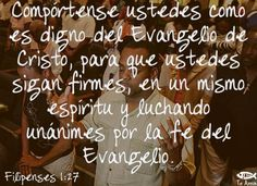 Filipenses 1:27 facebook.com/jesusteamamgaministries