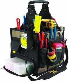 Custom Leathercraft 1528 23 Pocket Electrician Tool Bag Box Belt Storage Garage
