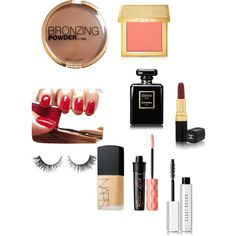 make up by paige123457 on Polyvore featuring beauty, Chanel, AERIN, Bobbi Brown Cosmetics, Benefit, H&M, NARS Cosmetics and Dolce&Gabbana Coco Chanel, Nars Cosmetics, Bobbi Brown, Benefit, Make Up, Lipstick, Polyvore, Stuff To Buy, Accessories