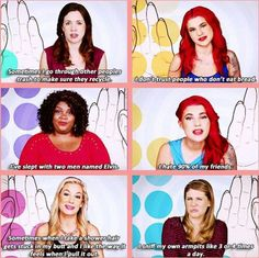 """Girl code """"is that weird""""? LOL weirdos.(but I totally understand the bread thing)"""