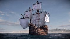 La Santa María de la Inmaculada Concepción (1460) - the largest of the three ships used by Christopher Columbus in his first voyage.