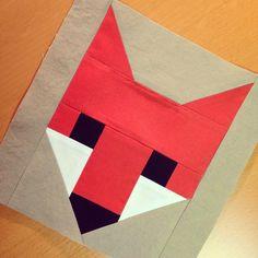 Fox pattern by Elizabeth Hartman, A close up Cindy Anderson Fox