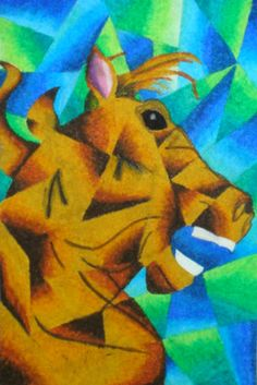 Middle school example of a cubism inspired drawing.  There is also a link to a great handout.