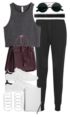 """""""Style #11099"""" by vany-alvarado ❤ liked on Polyvore featuring T By Alexander Wang, Links of London, H&M, Yves Saint Laurent and adidas Originals"""