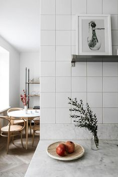 Separated kitchen and living room - via Coco Lapine Design blog