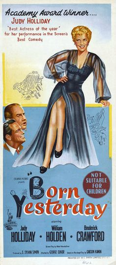 Born Yesterday (1950) Australian poster
