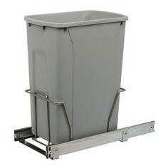 Knape & Vogt 35-Quart Plastic Pull Out Trash Can Psw10-1-35-R-P