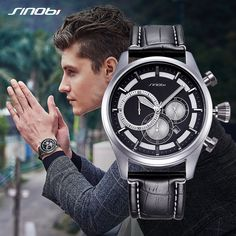 Buy Relogio SINOBI New Creative Watches Men Fashion Leather Strap Chronograph Men Watches Male Big Dial Sports Quartz Analog Clock at www.smilys-stores.com! Free shipping. 45 days money back guarantee. Men's Watches, Watches For Men, Michael Kors Watch, Watch Bands, Chronograph, Men Fashion, Quartz, Clock, Free Shipping