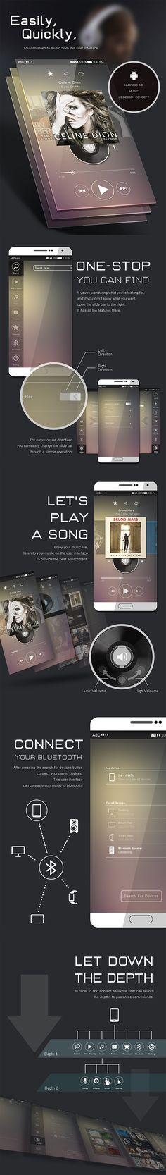 Android 5.0 Music UI Design Concept on Behance