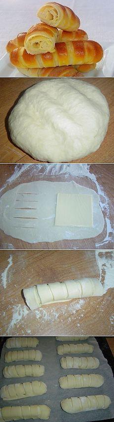 Façonnage brioche ou pain fourrés - Salé avec un morceau de fromage, ou sucré avec un morceau de pâte d'amande  par exemple -  Как приготовить булочки с сыром - рецепт, ингридиенты и фотографии