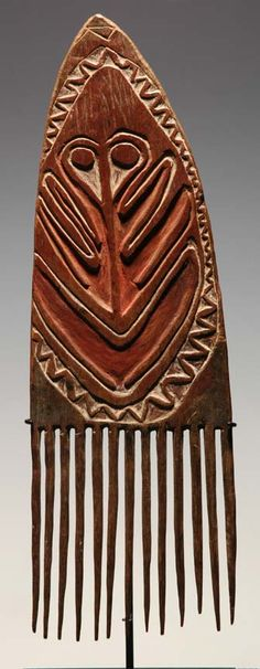 Traditional comb from Gulf Province, Papua New Guinea www.papuanewguinea.travel/gulf