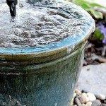 diy recirculating water fountain