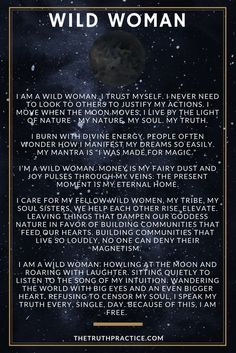 Get the other 6 Wild Woman Affirmation Cards at www.thetruthpract...  You\'ll get FREE positive affirmations for women who want to cultivate strength, love, power, confidence, sensuality, intuition, wealth, and joy. Let these cards fill you with the uplifting energy you need to get through your day with ease!
